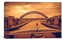 The Tyne Bridges, Canvas Print