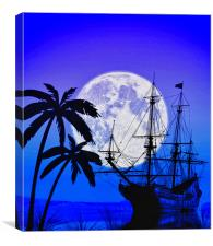 Paradise & Pirates, Canvas Print