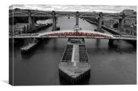 Swing Bridge, Canvas Print