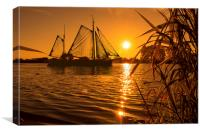 Sunset & Sails, Canvas Print