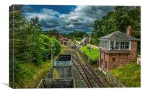 Rowley Signal Box, Canvas Print