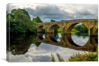 Chollerford Bridge, Canvas Print