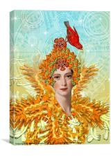 Lady of Shamballa., Canvas Print