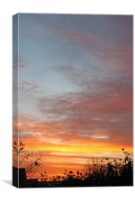 Sunrise and Silhouettes, Canvas Print