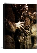 Old Sax, Canvas Print