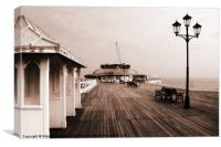 Along Cromer Pier, Canvas Print