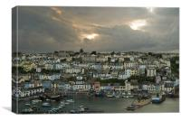 Brixham after the storm, Canvas Print