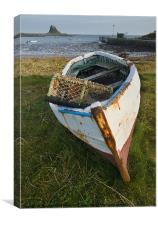 Lindisfarne boat, Canvas Print