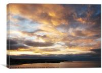 Scarborough sunset, Canvas Print