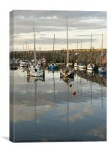 Harbour reflections No3, Canvas Print