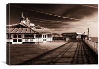 Llandudno pier, Canvas Print