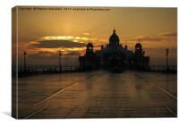 Eastbourne Pier Sunrise                           , Canvas Print