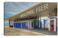 Boscombe Pier Entrance, Canvas Print