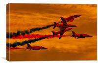 Red Arrows, Red Skies, Canvas Print