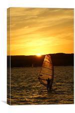 Sunset Exmouth Bay Kite surfing.