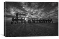 Pier End Sunset, Canvas Print