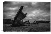 Wrecked Monochrome, Canvas Print