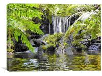 Waterfall at Rivelin Valley, Canvas Print