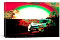 Ford Fiesta Rallie Car, Canvas Print