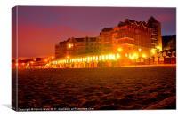 Honey Combe Beach at sunrise, Canvas Print