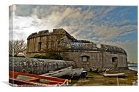 Portland Castle in HDR, Canvas Print