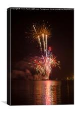 Poole Quay Fireworks Night 2014, Canvas Print