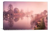 Misty, Morning Tranquility, Canvas Print
