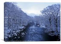 Cold Winter Riverscape, Canvas Print