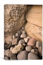 Honeycomb Wall on Elgol Beach, Canvas Print