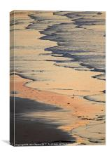 Sunset Wave Pattern, Canvas Print
