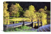 Evening Light at Loch Ard, Canvas Print