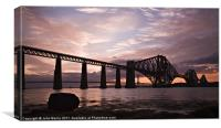 Forth Rail Bridge at Sunset, Canvas Print