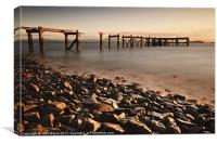 Hawkcraig Jetty, Aberdour, Canvas Print