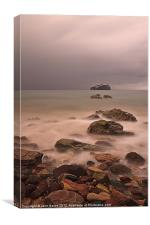Bass Rock from Seacliff Beach, Canvas Print