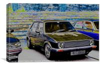 MK1 Golf, Canvas Print