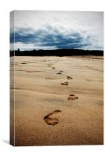 Beach Footprints, Canvas Print
