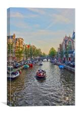 The Painted Canal, Canvas Print