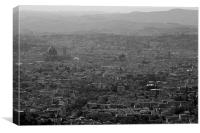 The City of Florence, Canvas Print