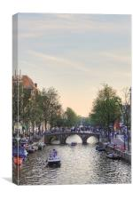 A calm day in Amsterdam, Canvas Print