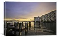 Miami View, Canvas Print