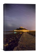 St Michaels Mount Night, Canvas Print