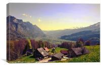 Sleepy Swiss Village looking toward Vaduz