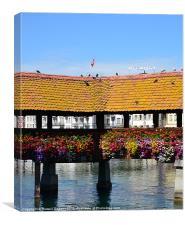 Colourful Bridge in Luzern
