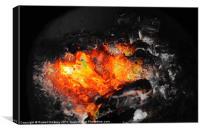Black and White Smoldering Fire