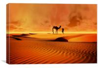 The Bedouin, Canvas Print