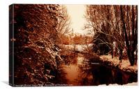Classical snow, Canvas Print