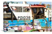 Moored boats, Canvas Print