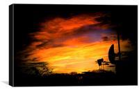 Sky at night, Canvas Print