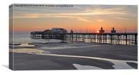 Blackpool Sunset, Canvas Print