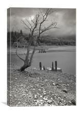 Rain over Derwent Reservoir, Canvas Print